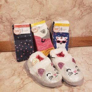 💫Wonder Nation slippers/socks set